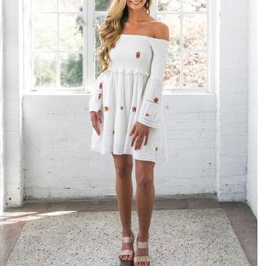 Free People Counting Daisies Embroidered Dress NWT